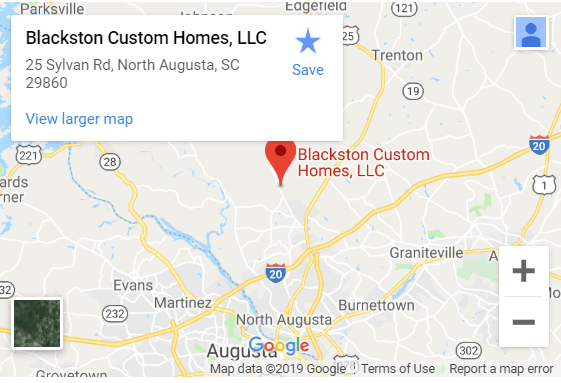 Blackston Custom Homes Map